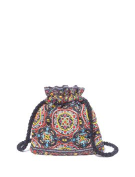 Rope Ornate Tile Crossbody Pouch Bag by Alice + Olivia