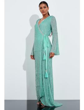 Peace + Love Mint Sequin Stripe Detail Maxi Dress by Missguided