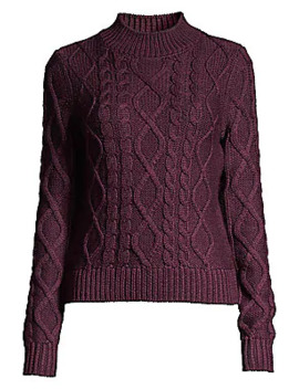 Audrey Cable Knit Merino Wool Sweater by Elie Tahari