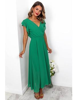 Sugar Plum   Maxi Dress In Green by Dlsb