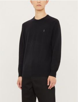 Logo Embroidered Cashmere Jumper by Polo Ralph Lauren
