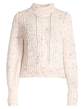 Tweed Cableknit Sweater by Rebecca Taylor