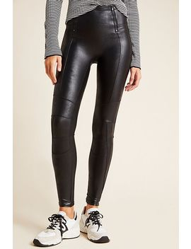 Spanx Hip Zip Faux Leather Leggings by Spanx