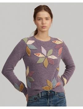Wool Blend Patchwork Sweater by Ralph Lauren