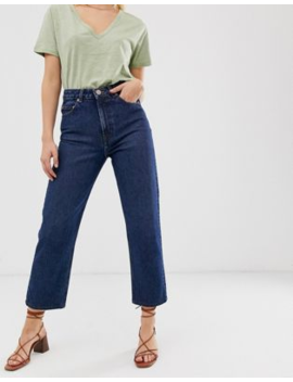 Asos Design – Recycled Florence Authentic – Gerade Geschnittene Jeans In Sattblauer Stonewash Optik by Asos