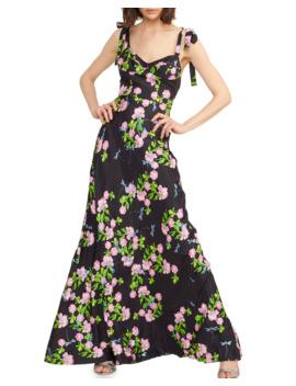 Ten Rose Sweetheart Tie Shoulder Maxi Dress by Cynthia Rowley