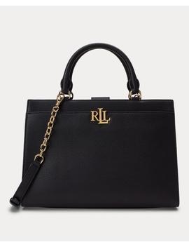 Pebbled Leather Laine Satchel by Ralph Lauren