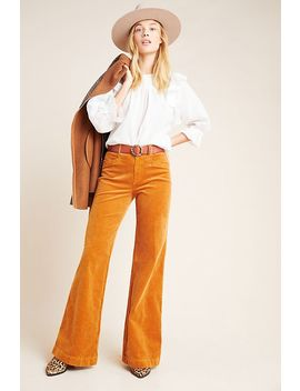 Paige Sutton High Rise Flare Corduroy Jeans by Paige
