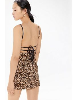Uo Lani Strappy Tie Back Bodycon Mini Dress by Urban Outfitters