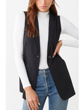 Notched Lapel Vest by Forever 21