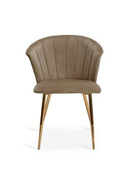 Kendall Velvet Chair   Mink by Dunelm