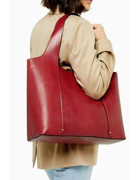 Taylor Red Slouchy Tote Bag by Topshop