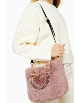 Faith Nude Faux Fur Shoulder Bag by Topshop