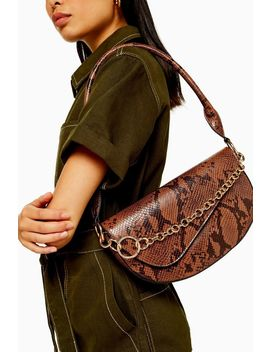Sienna Snake Shoulder Bag by Topshop