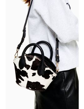 Ted Mini Cow Tote Bag With Strap by Topshop