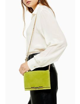 Luxe Lime Suede Cross Body Bag by Topshop