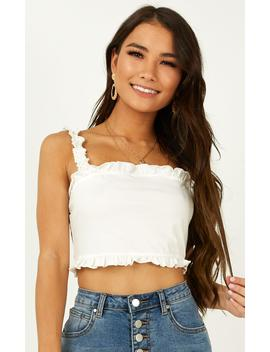 Wild Minded Top In White by Showpo Fashion