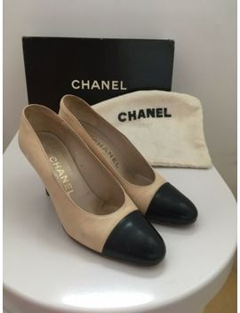Classic Vintage Chanel Two Tone Pumps Heels Shoes 35 Eu 2 Uk. by Ebay Seller