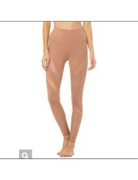 Alo Epic High Waist Leggings Smoky Quartz Blush Pink Mesh Size Large $124 Msrp by Alo