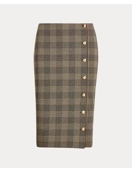 Buttoned Placket Skirt by Ralph Lauren