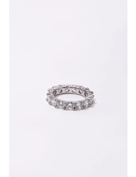 Cz Stone Eternity Ring by Forever 21