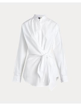 Tie Waist Cotton Shirt by Ralph Lauren