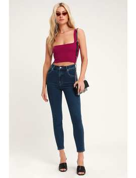 Eastcoast Dark Wash High Waisted Ankle Skinny Jeans by Rolla's