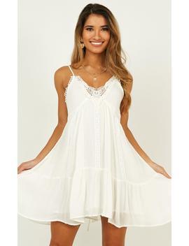 Enough Echo Dress In White by Showpo Fashion