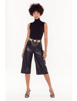 Leather Underestimate Me Faux Leather Culottes by Nasty Gal