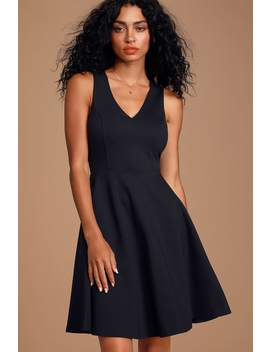 Bon Appetit Black Skater Dress by Lulus