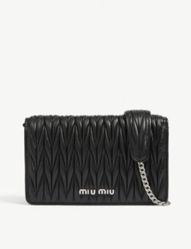 Délice Matelassé Quilted Leather Shoulder Bag by Miu Miu