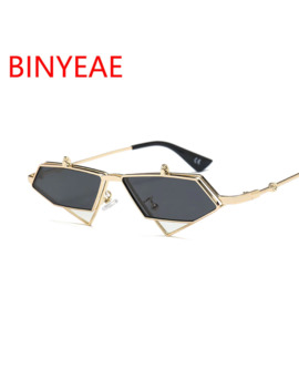 2018 Newest Steampunk Metal Flip Triangle Sunglasses Tinted Color Double Lens Designer Female High Fashion Red Sun Glasses Women by Ali Express.Com