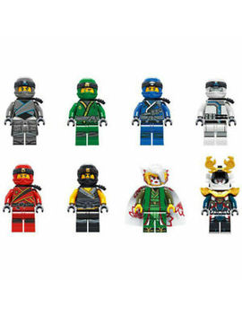 Uk Stock 8 Pcs Ninjago Mini Figure Toy Zane Jay Harumi Kai Nya Building Blocks by Ebay Seller
