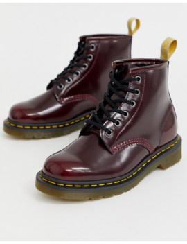 Dr Martens Vegan 101 Ankle Boots In Cherry by Dr Martens
