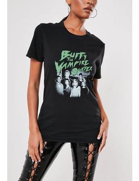 Black Buffy The Vampire Slayer Graphic T Shirt by Missguided