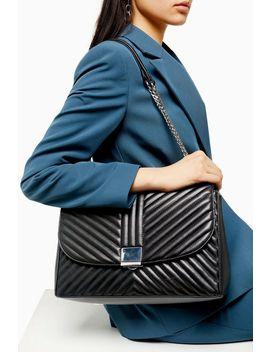 Sofia Black Quilted Shoulder Bag by Topshop