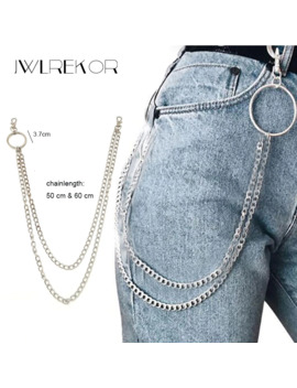 Hiphop Long Metal Wallet Chain Leash Pant Jean Keychain Ring Clip Men's Hip Hop Jewelry by Ali Express.Com