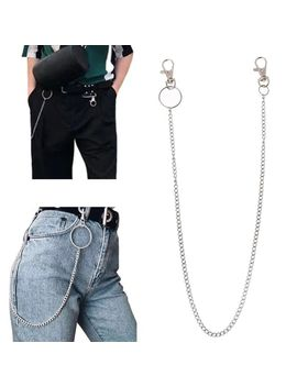 Long Metal Wallet Chain Leash Pant Jean Keychain Ring Clip Men's Hip Hop Jewelry by Ali Express.Com