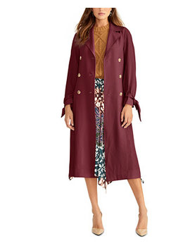 Tie Sleeve Trench Coat by General