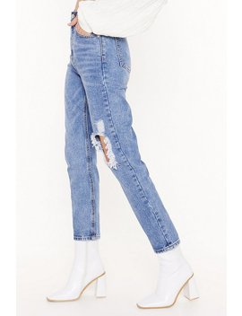 I Sense Trouble Distressed Mom Jeans by Nasty Gal