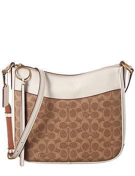 Coach Signature Chaise Leather And Canvas Crossbody by Coach