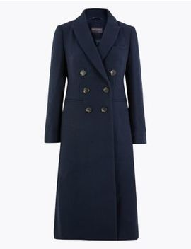 Petite Waisted Overcoat by Marks & Spencer