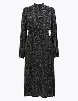 Swirl Waisted Midi Dress by Marks & Spencer
