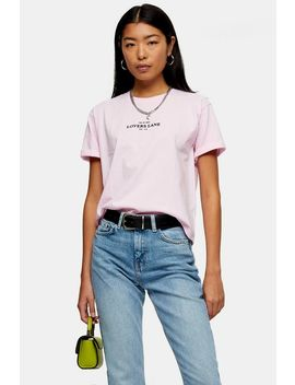 Bleach Wash Straight Jeans by Topshop