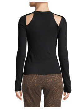 Fitted Twisted Shoulder Cutout Sweater by Alexanderwang.T