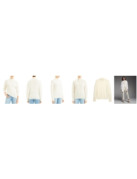 Cashmere Whipstitched Turtleneck Sweater by Theory