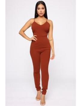 The Perfect Touch Jumpsuit   Cognac by Fashion Nova