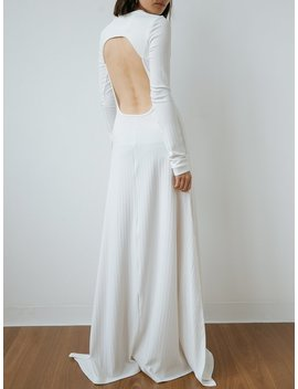 Backless Jersey Maxi Dress by Michael Lo Sordo