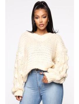 Subtle Feelings Sweater   Off White by Fashion Nova