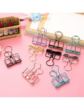 3 Size Multi Color Hollowed Out Design Binder Clip For Office School Paper Organizer Stationery Supply Decorative Metal Clips by Ali Express.Com